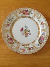 WM. GUERIN & CO. LIMOGES FRANCE LUNCH PLATE WITH GOLD 1891- 1932 FLORAL DESIGN