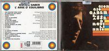 GIORGIO GABER CD L'ASSE DI EQUILIBRIO anno 2000 FUORI CATALOGO