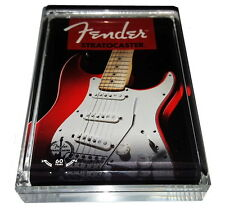 Acrylic Executive Fender Stratocaster Guitar Display Piece Desk Top Paperweight