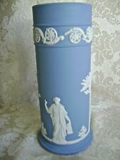 "WEDGWOOD PALE BLUE JASPERWARE  ""ARCADIAN SPILL VASE""  - MINT CONDITION!"