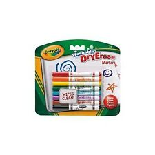 Crayola 8 White Board Dry Erase Dry Wipe Washable Markers Felt Tip Pens  98-2002