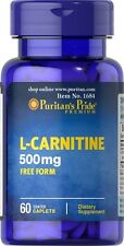 L-CARNITINE 500mg PURITAN'S PRIDE BURN FAT BUILD MUSCLE *MADE IN USA* 60 CAPS