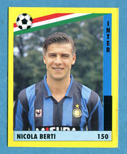 IL GRANDE CALCIO '91 Vallardi-Figurina-Sticker n. 150 - BERTI - INTER -New