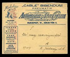 AUTOMOTIVE c1930 MICHELIN ADVERTISING ILLUSTRATED ENVELOPE + METER FRANKING