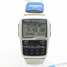 Casio DBC-32D-1A Databank Calculator Stainless Steel Dual Time Watch DBC 32D