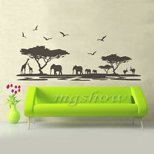 African Animals Safari Wall Sticker Mural Home Decal Art Vinyl Room Decor DIY