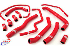 HONDA VFR 800 FI 1998-2001 HIGH PERFORMANCE SILICONE RADIATOR HOSES RED