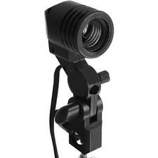 E27 Socket Studio Video Light Lamp Stand Bulb Holder Swivel For Umbrella Softbox