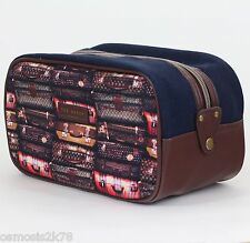 New TED BAKER Mens Large Printed Weekend DOPP KIT Sports toiletry Wash Bag BNWT