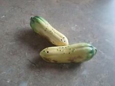 Vintage Squash, Cucumber Salt and Pepper Shakers - Japan
