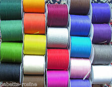 LOT 20 mètres RUBAN VOILE ORGANZA 3 mm - 20 COULEURS ASSORTIES X 1 m - Broderie