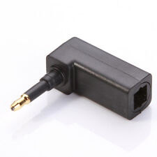Toslink Digital Optical Female to 3.5mm Mini Plug 90° Right Angle Audio Adapter