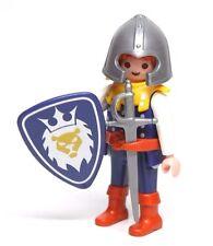 Playmobil Figure Castle Knight w/ Lion Crest Shield Sword Helmet 3268 3314
