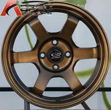 ROTA GRID 15X7 +38 SPORT BRONZE 4X100 FIT HONDA CIVIC SI EK6 CRX FIT LIGHT WHEEL