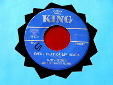 JAMES BROWN~ EVERY BEAT OF MY HEART~ ZEKE JACKSON THEME SONG~ KING ~ FUNK  45