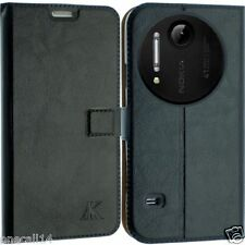 FOR NOKIA LUMIA 1020 LEATHER CASE COVER WALLET POUCH FLIP BACK SCREEN SKIN N1020