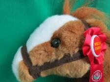 WELLS FARGO HORSE PLUSH MACK STUFFED ANIMAL LEGANDARY PONY RIBBON STUFFED BROWN