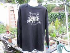 slayer  pentagram logo med. long slevee black shirt 666 slatanic wehrmacht