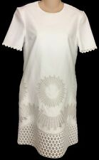 Stella McCartney Dress New White Embroidered Short Sleeve Size 2 (38) NWT
