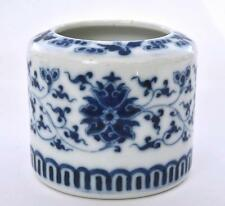 19C Chinese Blue & White Porcelain Scholar Censer Incense Burner