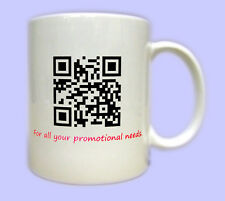 Personalised QR CODE Mug you choose web facebook target