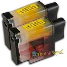 2 LC900 Yellow Ink Cartridge Set For Brother Printer MFC425CN MFC5440CN