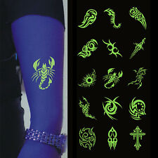 Glow In The Dark Night Body Temporary Tattoos Luminous Stickers New Best