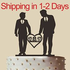 Homosexual Wedding Cake Topper, Same Sex,Gay wedding cake topper,Made in USA, 6""