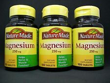 Nature Made 250mg Magnesium Mineral Supplement Lot, Nerve Bone & Muscle Health