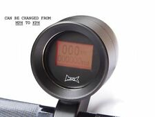 "Matt Black 1"" (25mm) Handlebar Mount GPS Digital MPH KPH Motorbike Speedometer"