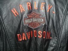 SMALL WOMENS LEATHER HARLEY DAVIDSON MOTORCYCLE JACKET IN EXCELLENT CONDITION