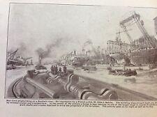 a1l ephemera 1917 ww1 picture war time ship building m albert sebile