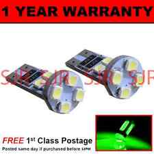 W5W T10 501 CANBUS ERROR FREE GREEN 8 LED SIDELIGHT SIDE LIGHT BULBS X2 SL101601