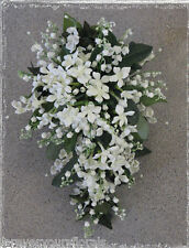 NEW Artificial White Lily of the Valley Wedding Bouquet, Princess Kate's Wedding