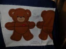 "Vintage "" LUV BEAR CUT OUTS "" Fabric Project Panel VIP CRANSTON w/ Instructions"