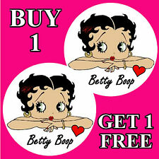 BETTY BOOP - FUN CAR / WINDOW STICKER + 1 FREE - NEW - GIFT/ B/DAY / XMAS
