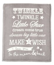 Mamas & Papas - Millie & Boris - Small Fleece Blanket - 70 x 100cm