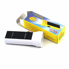 New Solar Rechargeable 6 LED Portable Flashlight Torch