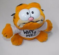 "Vintage R. Dakin Garfield Plush Stuffed Animal Why Me? T-shirt  7"" 1981"