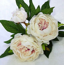 Artificial Silk Peony Flowers 3 Heads Bridal Hydrangea Party Wedding Decor Home