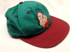 Vintage Disney Snow White & 7 Dwarfs GRUMPY Embroidered SnapBack Cap Hat - Small