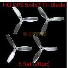 HQProp HQ DPS 5x4x3 PC Tri-Blade PC Propellers for FPV Quad Race Clear 20pc