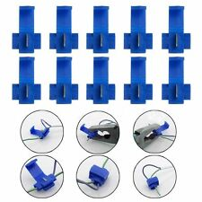 50x Blue Electrical Cable Connectors Fast Quick Splice Lock Wire Terminals Crimp