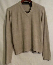 Oleg Cassini new tan v neck sweater size L nwt