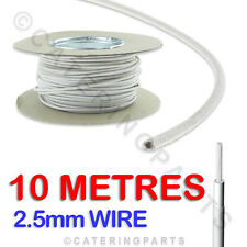 £1.70 PER METRE 10m of 2.5 HEAT RESISTANT HIGH TEMPERATURE RESISTANT WIRE CABLE