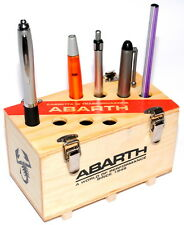 Abarth Desktop Pencil / Pen Holder Wood Abarth Crate Design New Genuine 59230773