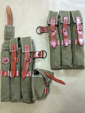 WWII GERMAN MP40 MAGAZINE POUCH SET - OLIVE GREEN (Repro)