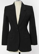 NWT Yves Saint Laurent YSL Women's Blazer Jacket 6 - 38 Gray Striped Wool France