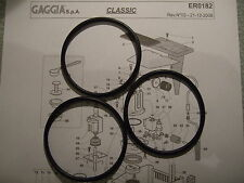 3x Gaggia Classic Baby Evo Tebe Boiler Gaskets O Rings EPDM 1st Class DM0041/082
