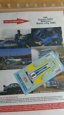 DÉCALS  Promo 1/43 réf 660 Subaru WRC Makinen Wales 2003